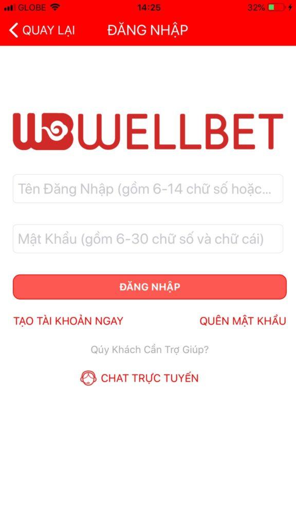 Các bước cá cược thể thao điện tử Esports nhà Wellbet trên điện thoại