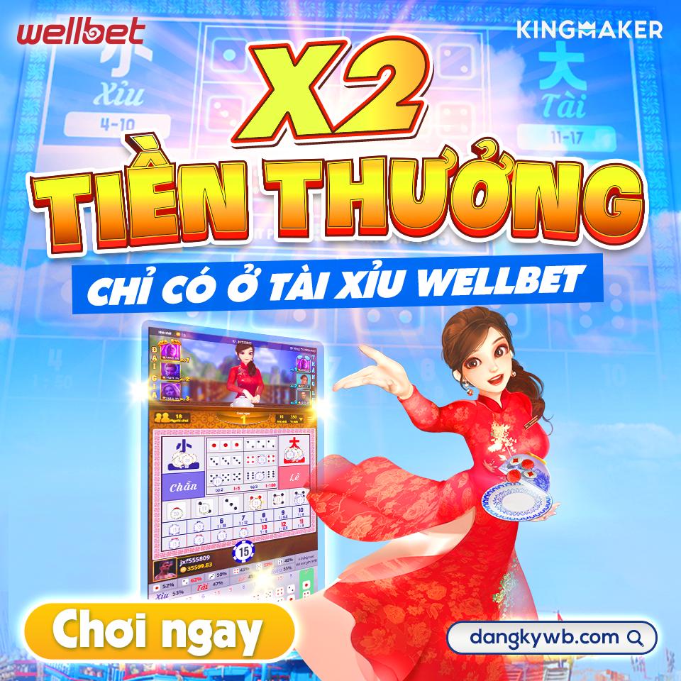 Tặng 100k trải nghiệm Tài Xỉu Việt – Thái – Trung 3D tại games KM Wellbet